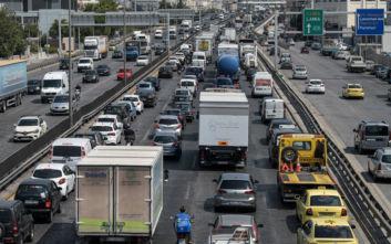 Κυκλοφοριακό έμφραγμα στον Κηφισό λόγω της βροχής