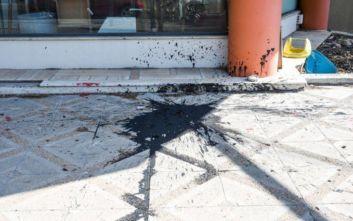 Επίθεση με μπογιές στα γραφεία της ΝΔ στο Νέο Ηράκλειο