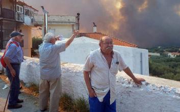 Φωτιά στη Ζάκυνθο: Καλύτερη εικόνα από το πύρινο μέτωπο, δεν απειλούνται χωριά