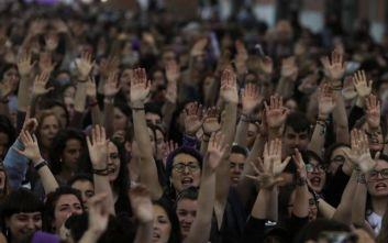 Ογκώδεις διαδηλώσεις στην Ισπανία ενάντια στη βία κατά των γυναικών
