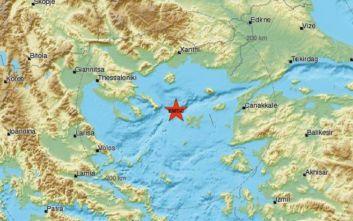Σεισμός τώρα στο θαλάσσιο χώρο μεταξύ Χαλκιδικής και Λήμνου