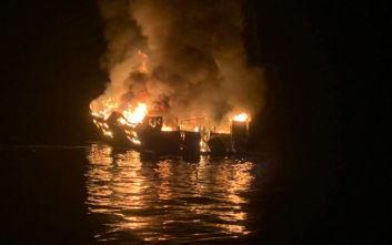 Τραγωδία στην Καλιφόρνια: Ανασύρθηκαν τέσσερις νεκροί, 30 οι αγνοούμενοι από το φλεγόμενο σκάφος