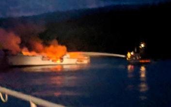 Βυθίστηκε το τουριστικό σκάφος που φλεγόταν στα ανοιχτά της Καλιφόρνιας