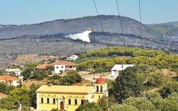 Το μέγεθος της καταστροφής από τη φωτιά στη Ζάκυνθο μέσα από μία εικόνα