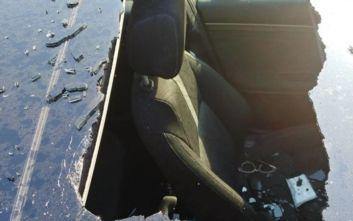 Μπουκάλι με ξηρό σαμπουάν εξερράγη μέσα σε αυτοκίνητο