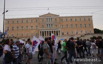 Έφτασαν στο Σύνταγμα οι διαδηλωτές του ΠΑΜΕ