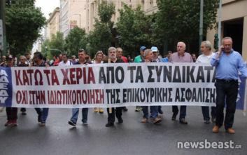 Έφτασαν στο Σύνταγμα ΑΔΕΔΥ και συνδικάτα