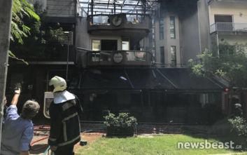 Εικόνες από τη φωτιά στην Κυψέλη