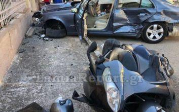 Λαμία: Σφοδρή σύγκρουση αυτοκινήτων σε διασταύρωση