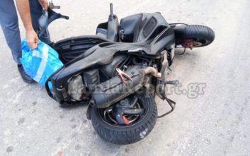 Τροχαίο με μηχανάκι στη Λαμία, σύρθηκε 40 μέτρα στο οδόστρωμα
