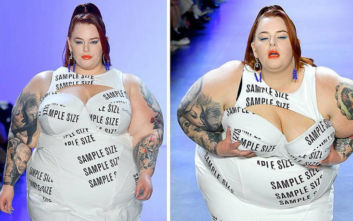Η γυναίκα που έγινε αντικείμενο συζήτησης στην Εβδομάδα Μόδας στη Νέα Υόρκη