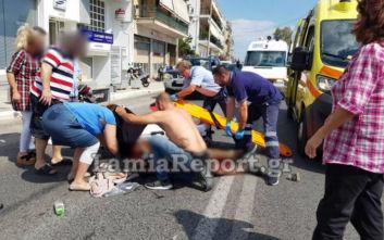 Ντελιβεράς τραυματίστηκε σοβαρά σε τροχαίο στη Λαμία