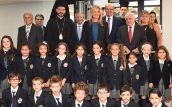 Η Μαρέβα Μητσοτάκη σε ελληνικά σχολεία της Νέας Υόρκης