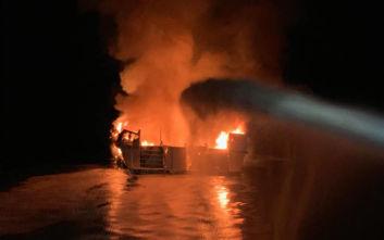 Fox News: 34 νεκροί από τη φωτιά σε σκάφος στην Καλιφόρνια