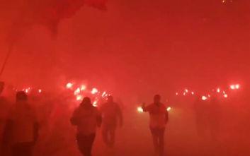 Εντυπωσιακή υποδοχή των οπαδών της Ιντερνασιονάλ στους παίκτες