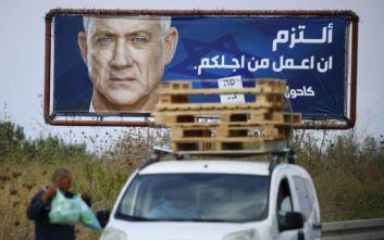 Στις κάλπες το Ισραήλ, μάχη στήθος με στήθος μεταξύ Νετανιάχου και Γκαντς