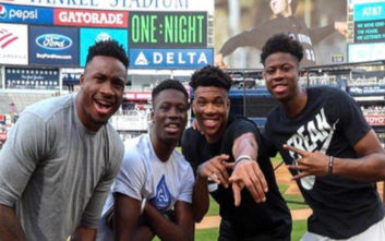 Τα τέσσερα αδέρφια Αντετοκούνμπο πήγαν για μπέιζμπολ
