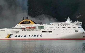 Φωτιά σε πλοίο στην Ηγουμενίτσα με πάνω από 500 επιβάτες