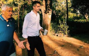 Η επίσκεψη του Κώστα Μπακογιάννη στην υπηρεσία Πρασίνου της Αθήνας