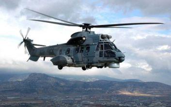 Σωτήρια αποστολή Ελληνικού Super Puma στις εσχατιές του FIR Αθηνών