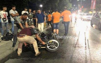 Αιματηρό τροχαίο στη Θεσσαλονίκη, μηχανή παρέσυρε 73χρονη