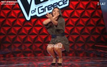Τελικός The Voice: Απίστευτη Παπαρίζου: Δείτε πως βγήκε στη σκηνή