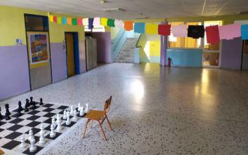 Αυτό το δημοτικό έχει πόρτες γνωστά έργα ζωγραφικής και στα διαλείμματα παίζει Χατζιδάκι
