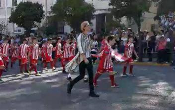 Παρέλαση στο Κερατσίνι με τα χρώματα του Ολυμπιακού