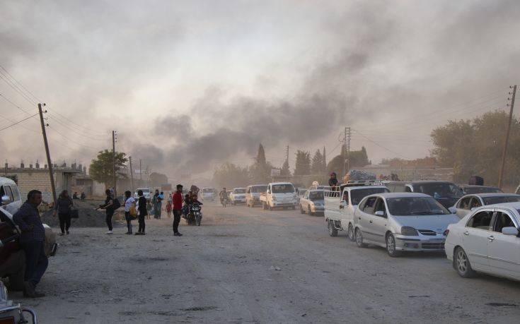 Σε πλήρη εξέλιξη οι τουρκικές αεροπορικές και χερσαίες επιχειρήσεις στη Συρία