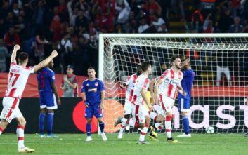 Ερυθρός Αστέρας-Ολυμπιακός: Κατέρρευσαν μετά την αποβολή οι Πειραιώτες, ήττα με 3-1 στο Βελιγράδι