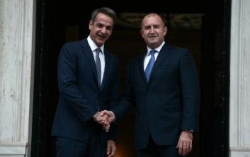 Ο Κυριάκος Μητσοτάκης συναντήθηκε με τον Πρόεδρο της Βουλγαρίας Ρούμεν Ράντεφ