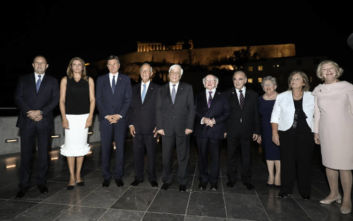 Δείπνο του Προκόπη Παυλόπουλου στους προέδρους Ιρλανδίας, Μάλτας, Βουλγαρίας, Σλοβενίας και Πορτογαλίας