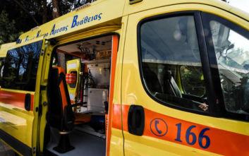 Ανατροπή αυτοκινήτου μετά από τροχαίο στην Κρήτη