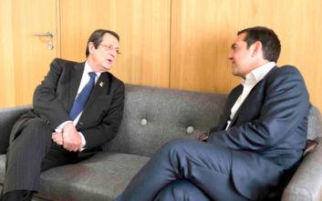Κυπριακό, τουρκική προκλητικότητα και ΑΟΖ στο επίκεντρο της συνάντησης Τσίπρα-Αναστασιάδη