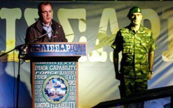 Παναγιωτόπουλος: Οι Ένοπλες Δυνάμεις της χώρας είναι το ξίφος της Ελλάδας