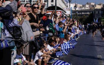 Με λαμπρότητα πραγματοποιήθηκε η μαθητική παρέλαση στην Αθήνα για την επέτειο της 28ης Οκτωβρίου