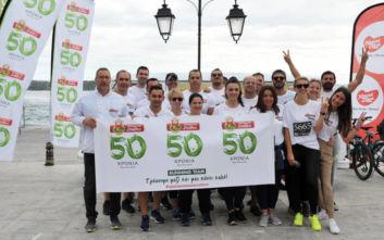 H εταιρεία ΜΠΑΡΜΠΑ ΣΤΑΘΗΣ για 4η συνεχόμενη χρονιά στο Spetses Mini Marathon 2019