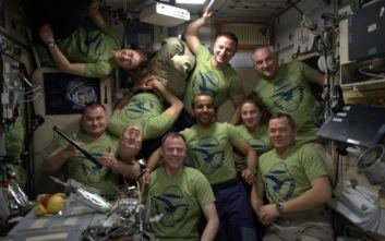 Πολυκοσμία στον Διεθνή Διαστημικό Σταθμό, εννέα αστροναύτες από τέσσερις υπηρεσίες