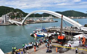 Έξι αγνοούμενοι μετά την κατάρρευση γέφυρας σε λιμάνι της Ταϊβάν