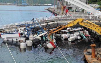 Νεκροί και οι έξι αγνοούμενοι μετά την κατάρρευση της γέφυρας στην Ταϊβάν
