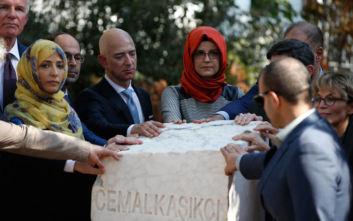 Αναμνηστική στήλη για τον Τζαμάλ Κασόγκι, έναν χρόνο μετά τη φρικτή δολοφονία του