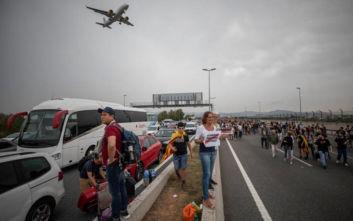 Ακυρώσεις και καθυστερήσεις πτήσεων στη Βαρκελώνη λόγω των διαδηλώσεων