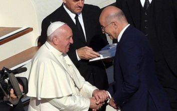 Τετ α τετ Νίκου Δένδια με τον Πάπα Φραγκίσκο στο Βατικανό