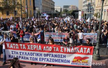 Σε απεργιακό κλοιό η χώρα, συγκεντρώσεις και πορείες συνδικάτων στο κέντρο της Αθήνας
