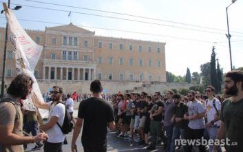 ΓΣΕΕ, συνδικάτα και φοιτητικοί σύλλογοι στο Σύνταγμα