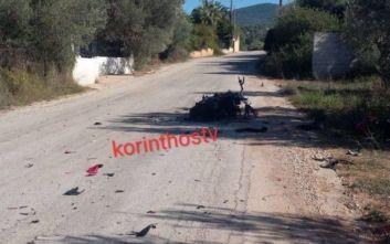 Ένας νεκρός σε σφοδρή σύγκρουση μηχανής με λεωφορείο στην Κορινθία