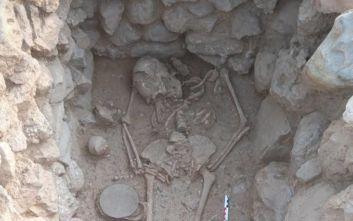 Άθικτος σκελετός γυναίκας βρέθηκε σε ανασκαφή στο Σίσι Λασιθίου