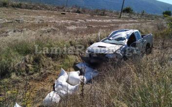 Τροχαίο με τραυματίες στη Φθιώτιδα, εγκλωβίστηκαν δύο ηλικιωμένοι στα συντρίμμια