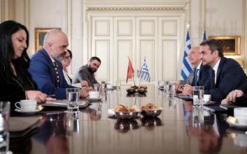 Μητσοτάκης - Ράμα: Συμφώνησαν να βελτιώσουν τις σχέσεις Ελλάδας και Αλβανίας