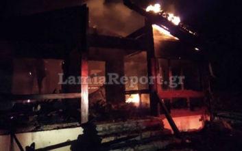 Εστιατόριο σε ορεινό σαλέ τυλίχτηκε στις φλόγες και έγινε στάχτη
